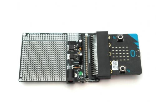 RKub PT2 Powered Prototype Edge Connector Breakout Board BBC Micro:Bit